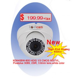 Kodicam 800 TV Lines 3.6 mm fix lense KD640BW