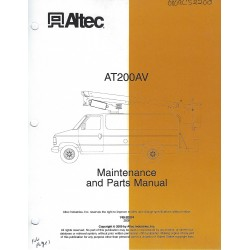 ALTEC AT200AV OPERATOR AND MAINTENANCE MANUAL