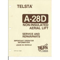 Telsta Bucket A-28D Service and Repair Manual Download link Only, No hard Copy